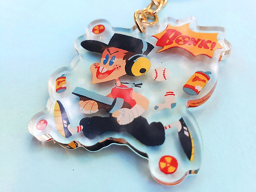 """TF2 Scout 2"""" acrylic charms and pins!"""