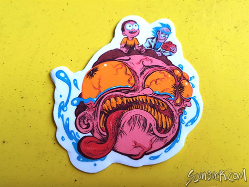 Big Head Morty color sticker