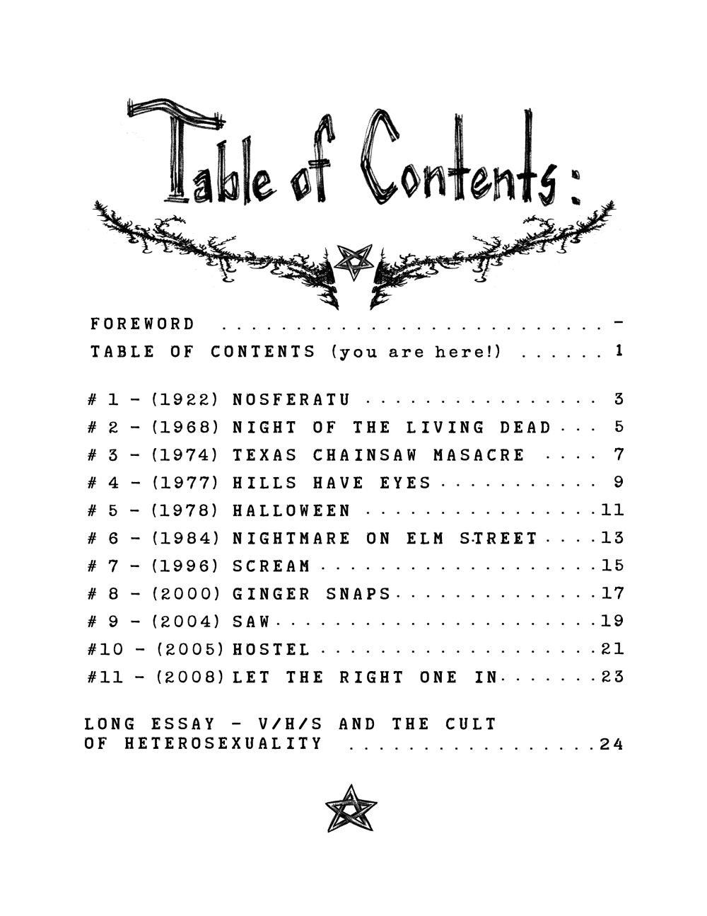 0table of contents