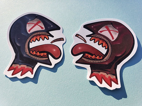 Spy Head Stickers