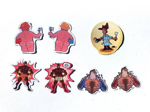 Hat Fortress sexy sticker set: Sniper, Demoman, Engie, Medic
