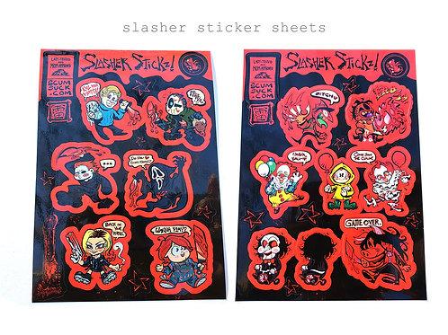 Horror slasher sticker sheets! (5x7)