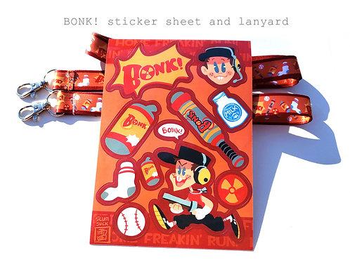 BONK! sticker sheets! (5x7)