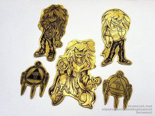 Gold Bakura sticker set