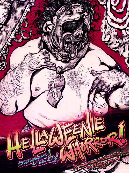 DIGITAL ZINE: hellaweenie whorror horror analysis zine!