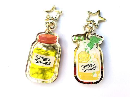 "Sniper's Lemonade 2"" acrylic charm"