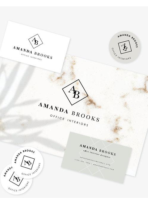 Feminine Design Logo & Brand Suite