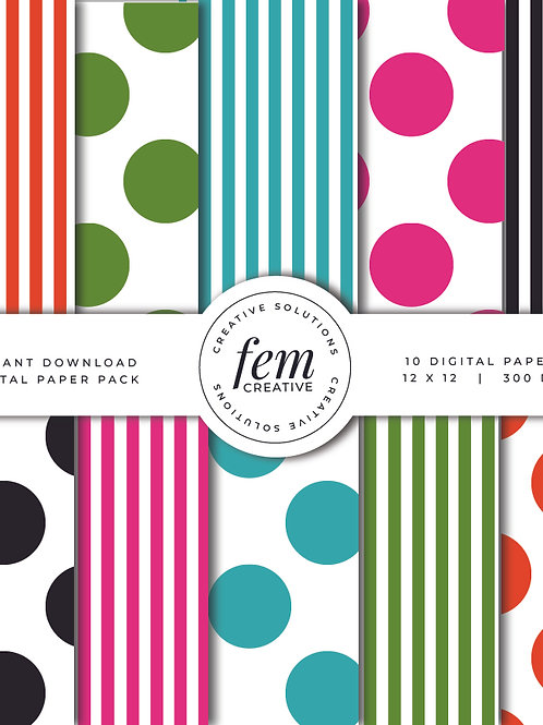 Stripes & Dots Pattern Collection 1