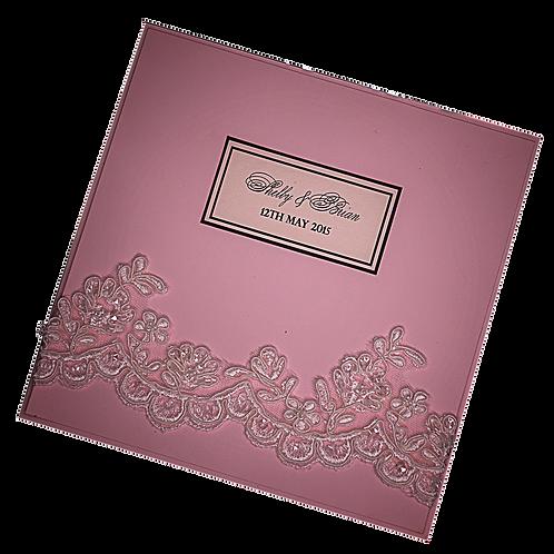 Blush Wedding Invitations Vintage Lace Romantic Invite
