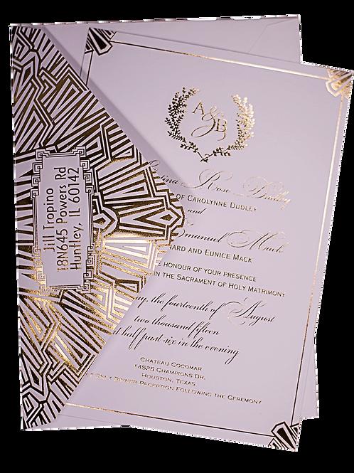 Gold Foil Luxury Wedding Invitations