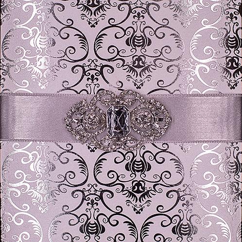Silver Foil Luxury Wedding Invitations