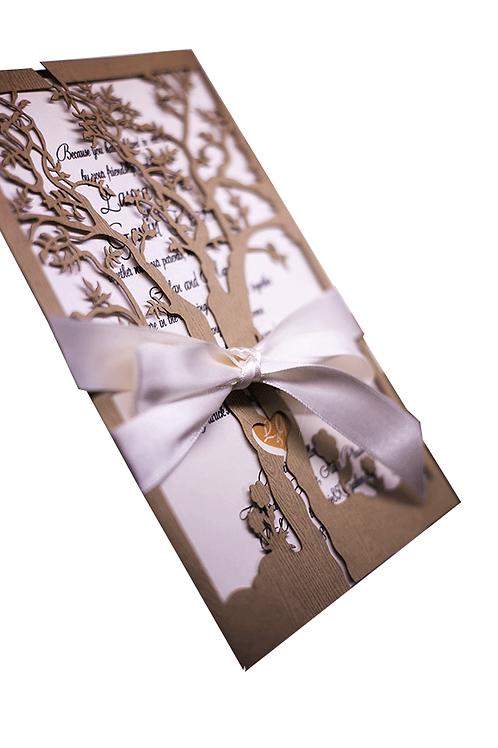 Tree Of Love Wedding Invitations