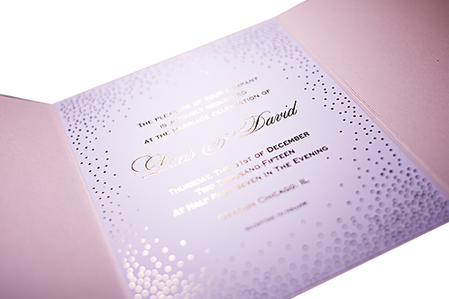Letterpress Wedding Invitations with Dots
