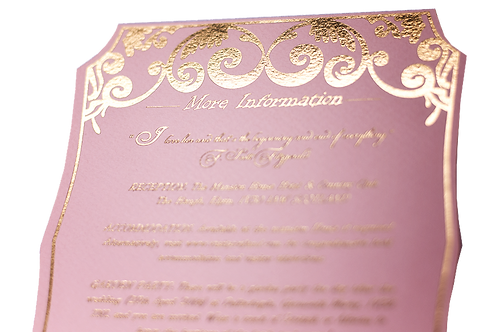 Gold Foil Information Card