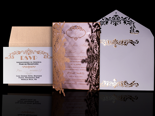 Laser Cut Invitations Butterfly