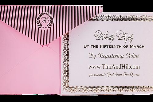 Laduree Wedding Invitations with Gold Foil