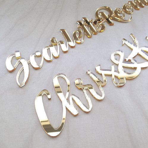 Laser Cut Acrylic Place Cards