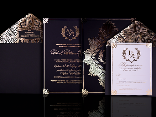 Art Deco Wedding Invitations Suite