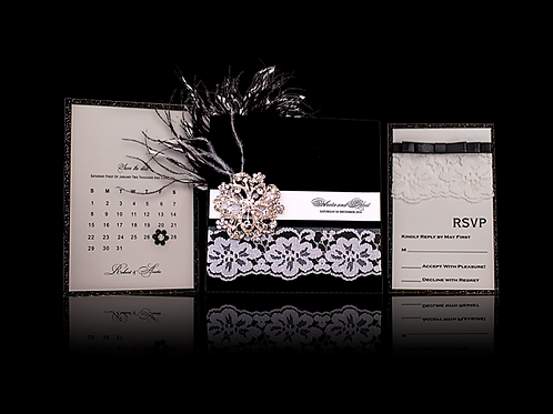 Feather Wedding Invitations Sets