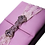 Thumbnail: Pink Silk Box For Wedding Invitations with Rhinestone Embellishment