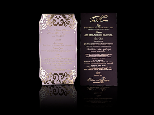 Gold Foil Menu Card Die Cut