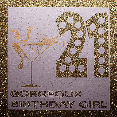 Glitter Birthday Invitation Cards