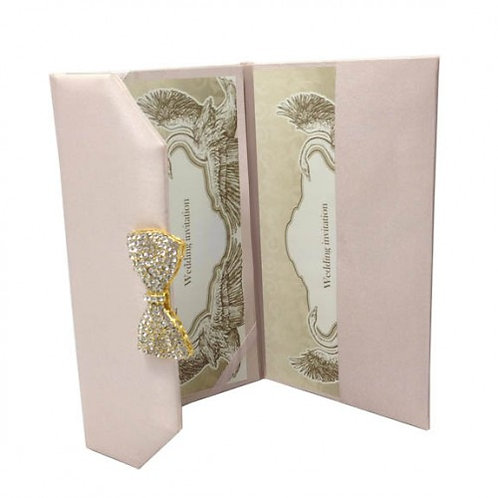 Luxury Wedding Invitations Silk Folio with Crystal Box Embellishment UK