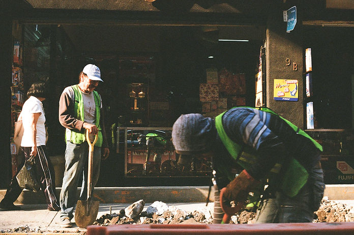 Trabajadores de la construcción ,2018.