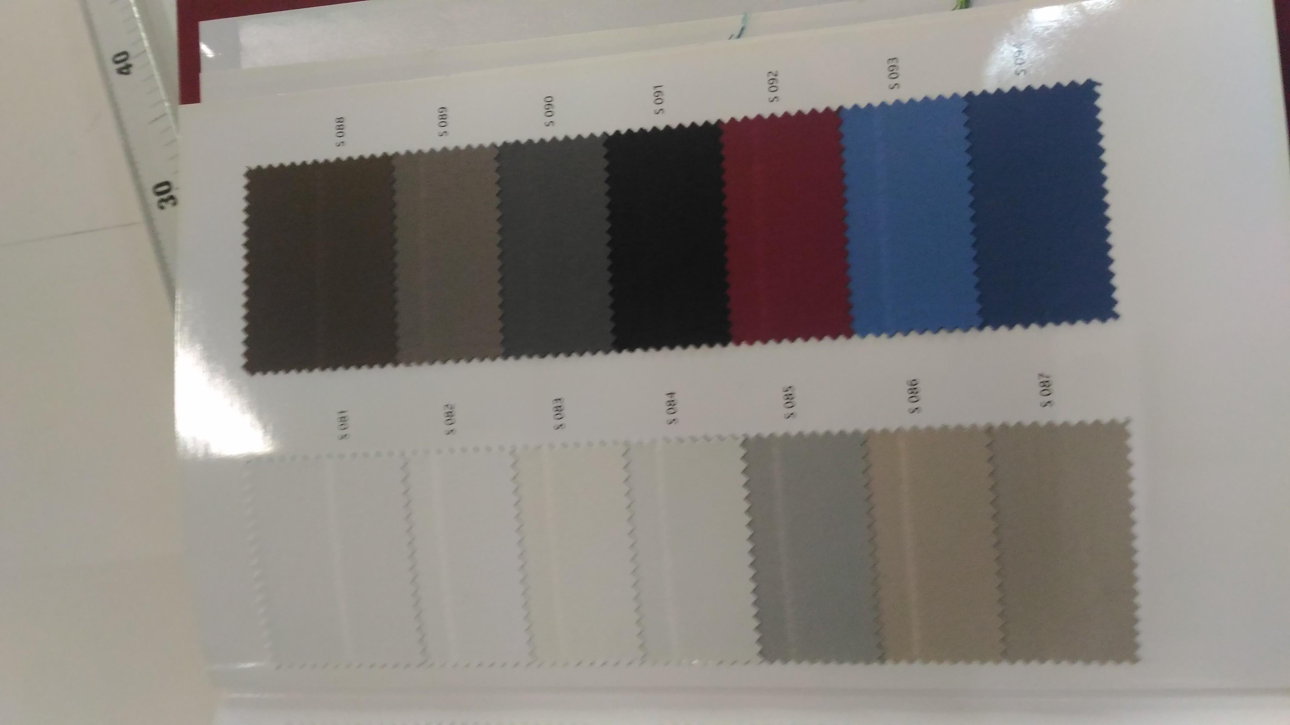 cartella colori ignifugo
