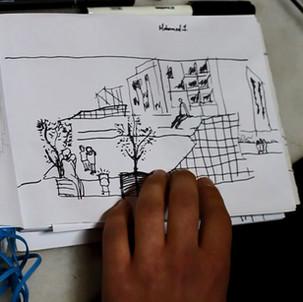 """Εργαστήριο Σκίτσου στο πλαίσιο δημιουργίας της εφαρμογής """"The Village Omonia"""""""