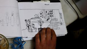 "Sketch Workshop for the app ""The Village Omonia"""
