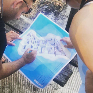Sensory mapping walk of the city in English language course for refugees