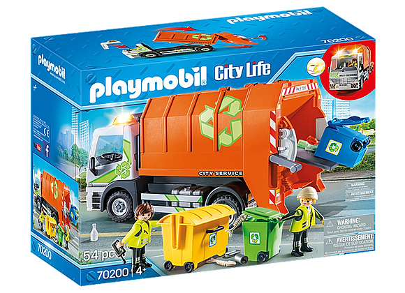 PLAYMOBIL CAMIÓN DE RECICLAJE 70200
