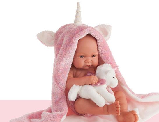 Muñeca recién nacida Nica Unicornio de Antonio Juan