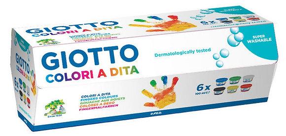 PINTURA DEDOS GIOTTO 100ML C/6 BOTES SURTIDOS