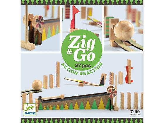 ZIG & GO CIRCUITO DE CANICAS 27 PIEZAS