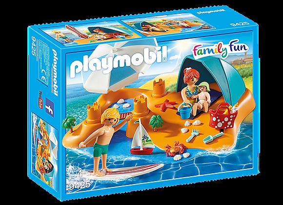 PLAYMOBIL FAMILIA EN LA PLAYA 9425