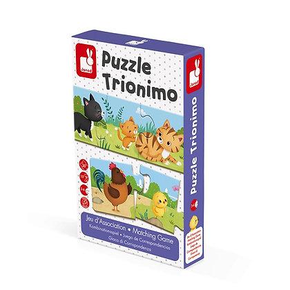 PUZZLE TRIONIMO. JUEGO DE CORRESPONDENCIAS