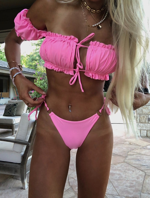 Pink Ruffle Swimsuit