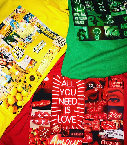 Custom Tee(Red, Yellow, Green)