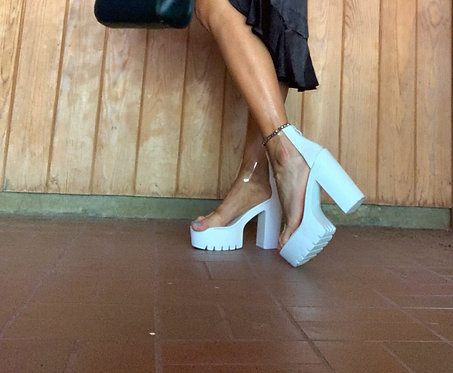Clear Strap Platform Heels