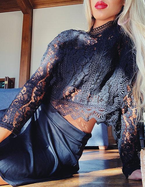 Lace Top- Black