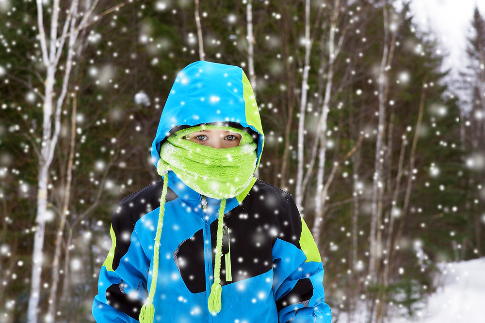 child in winter eather gear