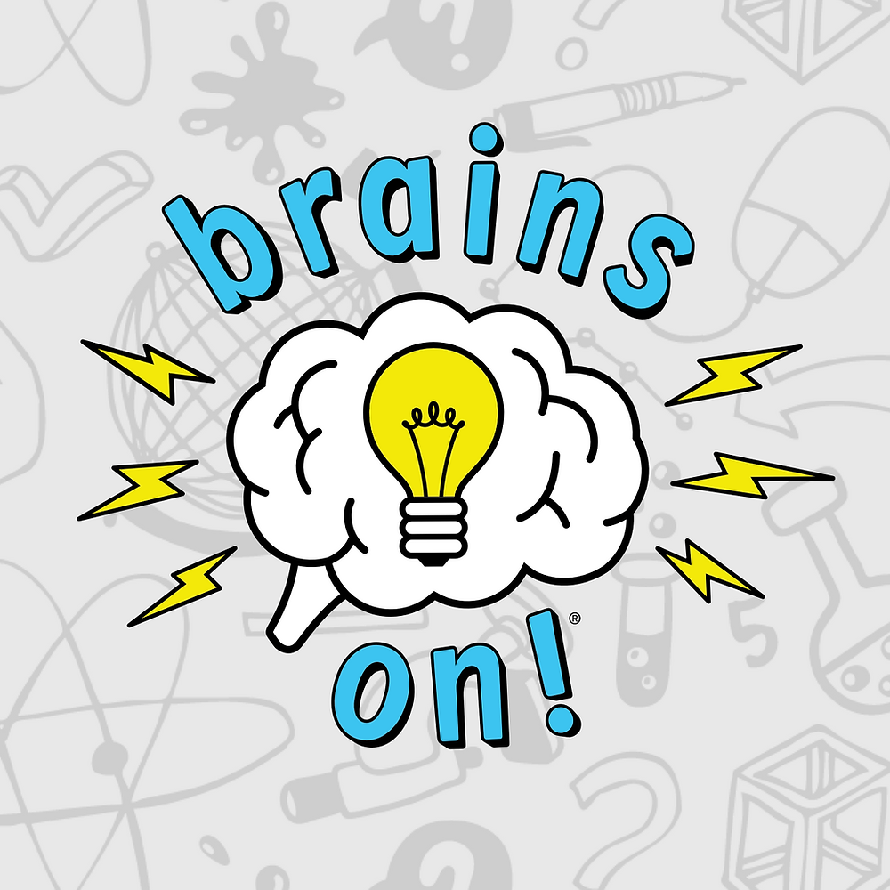 logo for the brains on podcast