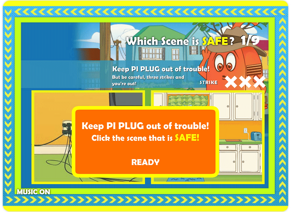 screenshot of a game from the electrical safety foundation