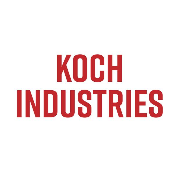 Kock Industries in red