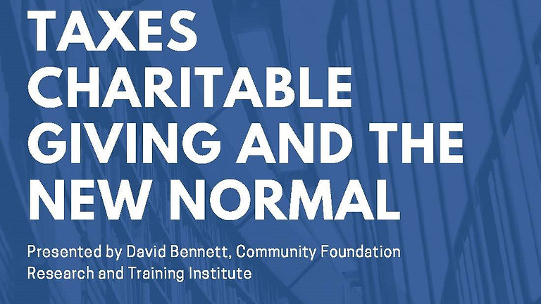 Taxes, Charitable Giving, and the New Normal