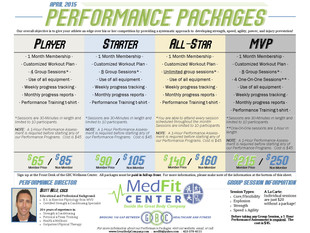 *NEW* Sports Performance Packages