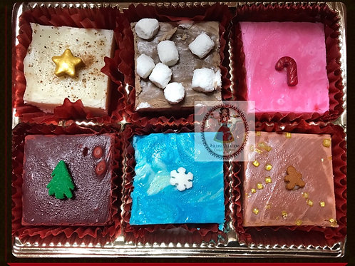 Holiday fudge Gift Box - 6 pcs