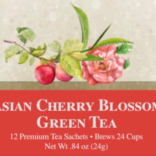 Asian Cherry Blossom Green Tea